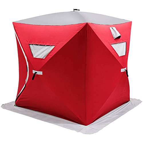 Popsport 2/3/4/8 Person Ice Fishing Shelter Tent 300d Oxford Fabric Portable Ice Shelter Strong...