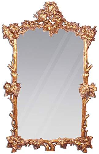 Casa Padrino Espejo Barroco de Lujo Cobre/Oro 100 x 8 x A 160 cm - Magnifico Espejo de Pared de Caoba Tallado a Mano en Estilo Barroco - Espejo de Armario - Espejo de Salon - Muebles Barro