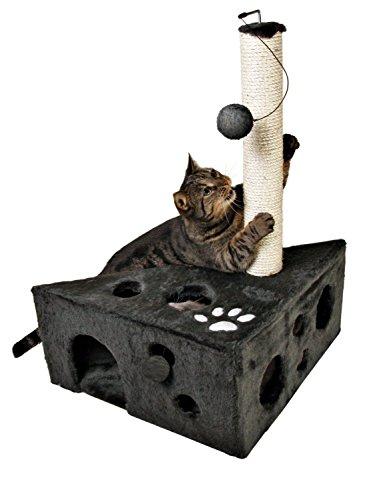 Cat House Tower Scratcher Post Bed Condo Pet Play Kitten Toy Furniture Cave (Birch Cedar Bridge)