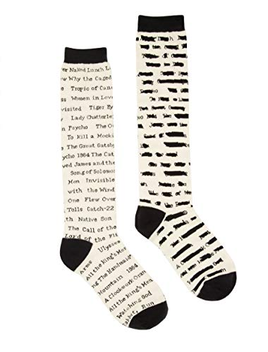 Out of Print Banned Books Knee High Socks Unisex Large