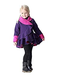 Mack & Co. Fleece Coat for Girls - Ruffle Bottom