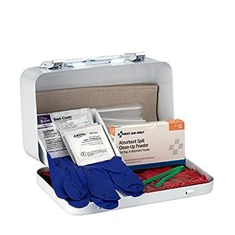 First Aid Only 6021 21-Piece Bloodborne Pathogen Spill Clean Up Kit