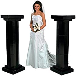 Medium Black Fluted Pillars - Party Decorations & Arches & Columns 4.5'