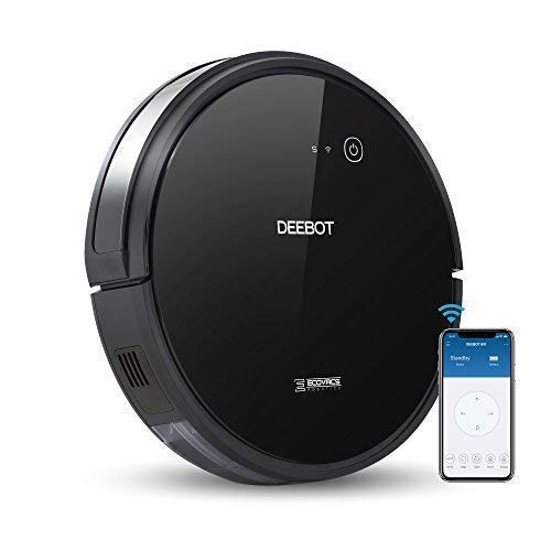- ECOVACS DEEBOT 601 Robotic Vacuum Cleaner with App Control, for Carpet & Optimized for Hard Floor, Max Mode, Quiet, Scheduling, Auto-Charging, Pet Friendly, Works with Amazon Alexa & Google Assistant
