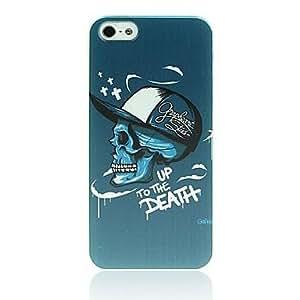 GDW Patrón cráneo cubierta protectora de plástico para el iPhone 5/5S