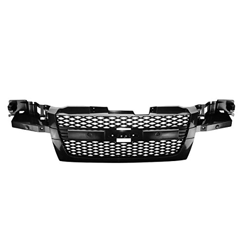 Grille Smooth Black Frame Front Assembly for 04-12 Chevy -