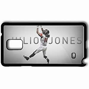 Personalized Samsung Note 4 Cell phone Case/Cover Skin 14557 falcons wp 39 sm Black