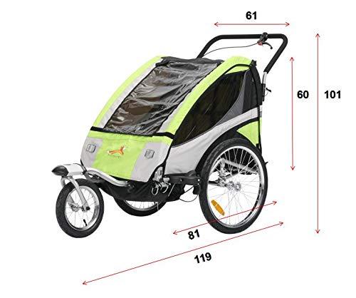 Fiximaster multifunktion 2 in 1 Fahrradanh/änger//Jogger Babywagen Jogger Handwagen Gr/ün BT504S NEU