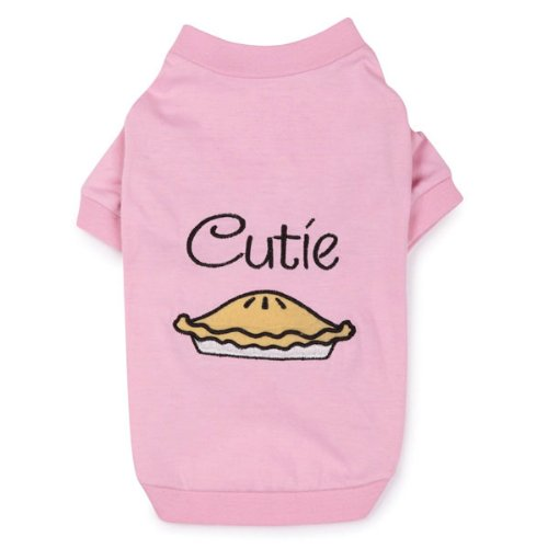 Zack and Zoey Polyester/Cotton Cutie Pie Dog Tee, X-Small, Pink, My Pet Supplies