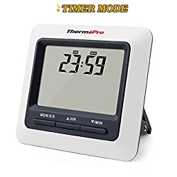 ThermoPro TP04 Digital Cooking Meat Food Thermometer for Smoker Grill Oven BBQ Thermometer Instant Read
