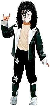 Partilandia Disfraz Estrella del Rock niño Infantil para Carnaval (2-4 ...