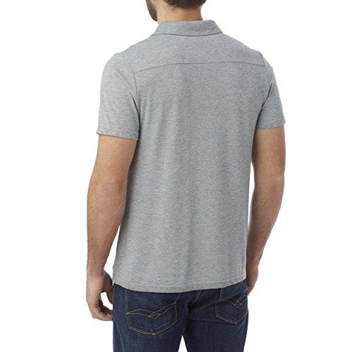 TOG 24–VOLTA–Liberación Dri Polo de color gris para hombre macho gris
