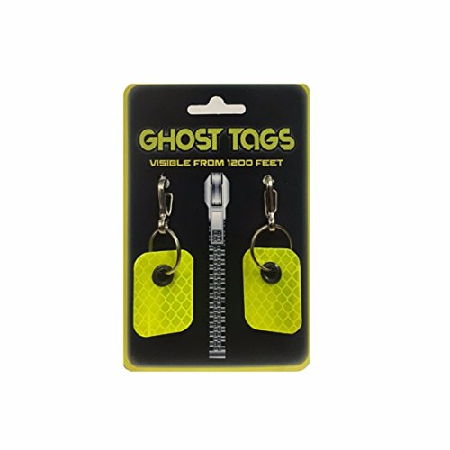 Ghost Tags Small Metal Clip Pet Safety Reflector Visible from 1200 Feet!