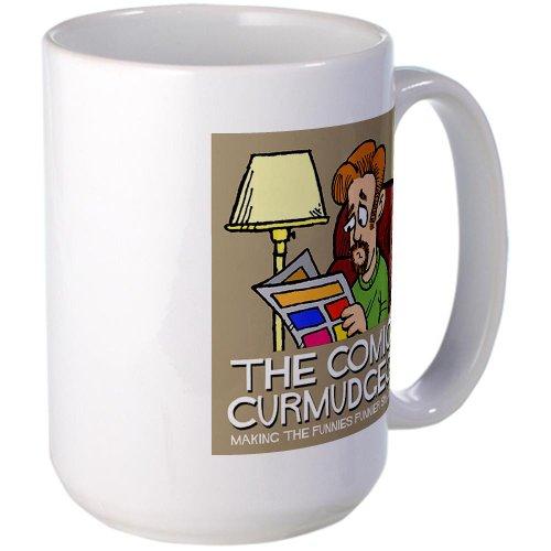 CafePress - Comics Curmudgeon logo Large Mug - Coffee Mug, Large 15 oz. White Coffee Cup