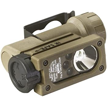 Streamlight 14104 Sidewinder Compact Tactical Flashlight with C4 LEDs and CR123A Lithium Battery, Coyote