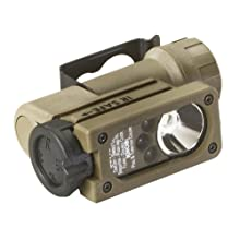 Streamlight 14104 Sidewinder Compact Tactical Flashlight with C4 LEDs and CR123A Lithium Battery, Coyote - 55 Lumens