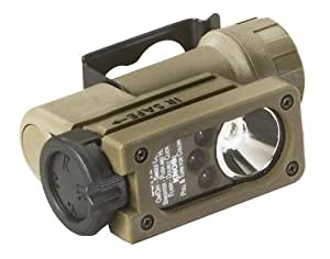 Streamlight 14130 Sidewinder Compact Tactical Flashlight with C4 LEDs, Helmet Mount and CR123A Lithium Battery, Coyote