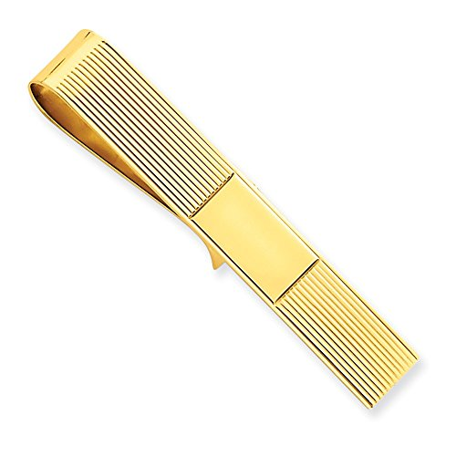 14k Yellow Gold Tie Bar and Money Clip by CoutureJewelers