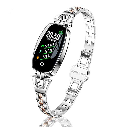 TMYIOYC Fitness Tracker, Activity Tracker Watch with Pedometer, Call and Message Reminder, Heart Rate Monitor, Calorie Counter, Anti-Lost, Smart Bracelet Fitness Band Watch for Woman and Sport Lovers