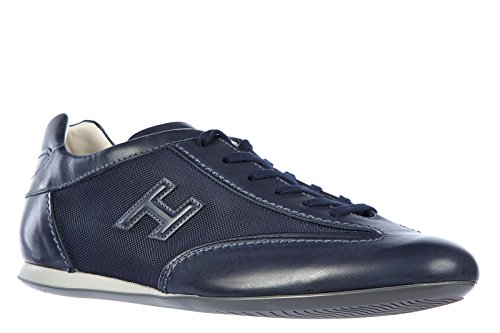 Hogan chaussures baskets sneakers homme en cuir olympia slash 3d blu