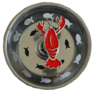 LOBSTER Kitchen decor Sink Strainer drain stopper plug by Billy Joe Homewares