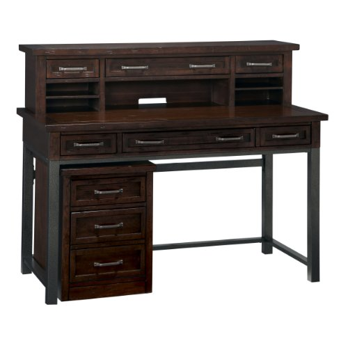Cabin Creek Chestnut Desk, Hutch Mobile File by Home Styles