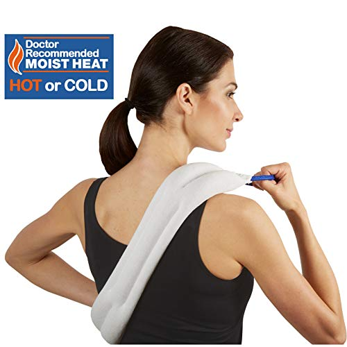Carex Bed Buddy Heat Pad and Cooling Neck Wrap - Microwave Heating Pad for Sore Muscles - Cold Wrap Pack for Aches and Pain