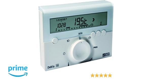 Delta Dore DEL6050416 - Termostato electrónico programable (con cables): Amazon.es: Bricolaje y herramientas