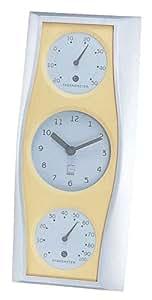 Enpekkusu'uŠ|combined clock revision metal temperature and humidity clock LV-4104 beige [ Home u0026 Kitchen ] [ Home u0026 Kitchen ]