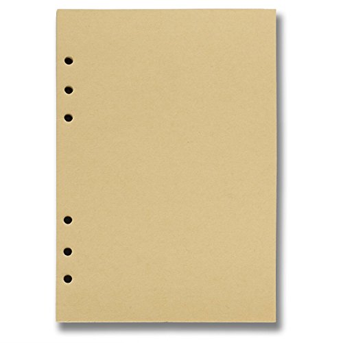 ANCICRAFT Refill 6 Holes Loose Binder Paper for Refillable Loose-Leaf Notebook (5.78.25 Inches, Blank Craft Paper) by ANCICRAFT