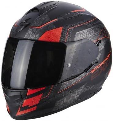 Motorcycle helmets EXO 510 AIR Galva Black Mattt Red Neon Scorpion