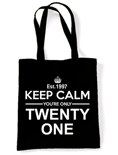 Birthday Keep Bag Calm 21st One Only Your Tote Black Twenty Shoulder xwUwYf4q
