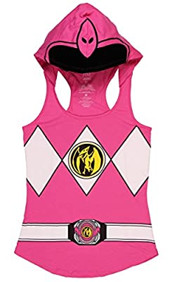 Power Rangers I Am Pink Ranger Juniors Hooded Tank