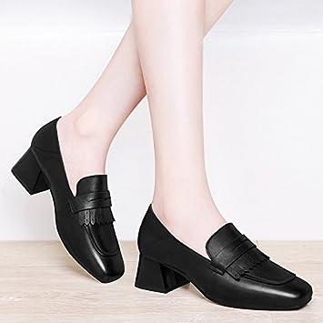 HUAIHAIZ Damen High Heels Pumps Schwarze High Heels Damen Schuhe PU Schuhe Stiefel Schuhe am Abend