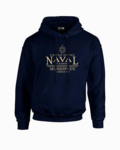 NCAA Navy Midshipmen Classic Seal Long Sleeve Hoodie, Small, Navy