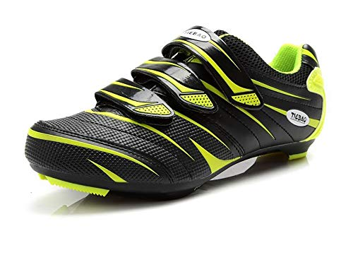 Tiebao Outdoor Road Cycling Shoes Professional Bike Shoes Triple Straps Compatible with SPD,SPD-SL, Look-KEO Cleat