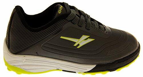 Footwear Studio - Botas de fútbol para niño negro negro Grau und Gelb / Grün