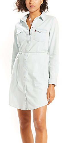 Dress Azul Western Mujer Ls Get para 0011 Vestido Together Iconic Levi's It fqtgax