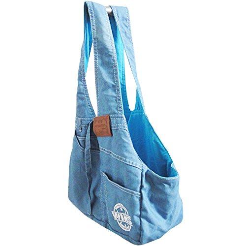 Pineocus Denim Dogs Carrier Bag Light Blue