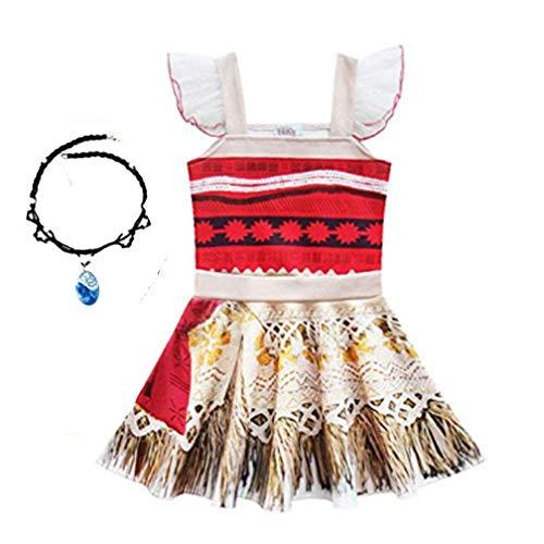 (Baby Girl Princess Dress Little Girls Lace Sleeveless Costume for Moana)