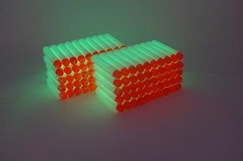 EKIND 200Pcs Glow in the Dark Darts Refill Foam Bullet for Nerf N-strike  Elite