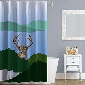 Right Canvas Multi Color 180cm x 200cm Shower Curtain - RG138NPIC00080