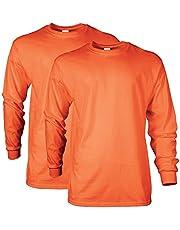 Gildan Mens Ultra Cotton Long Sleeve T-Shirt - Style G2400, Multipack