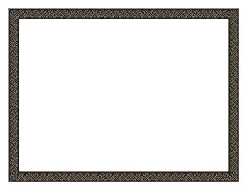 Geographics Black Diamonds Premium Foil Certificates (Gold Foil), 8.5 x 11 Inches, Pack of 12 (47855) ()