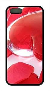 iPhone 5 5S Case Transparent Heart TPU Custom iPhone 5 5S Case Cover Black