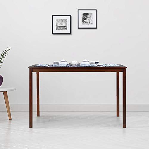HomeTown Stella Solid Wood Four Seater Dining Table in Dark Walnut Colour