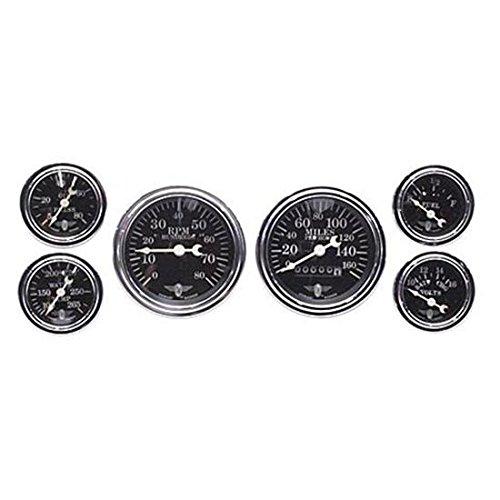 (Stewart Warner 82225 Wings Black Face 6 Gauge Mechanical Kit)