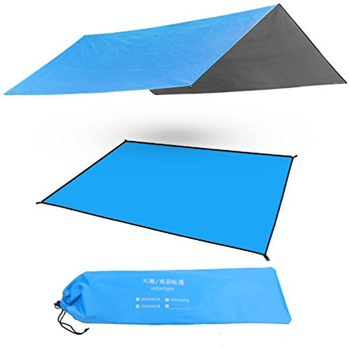 "Large Waterproof Compact Outdoor Sunshade Camping Shelter Tent Tarp Rain Fly Tarp Beach Blanket Picnic Mat 82.7"" x 118"", - Code Car Shades Discount"