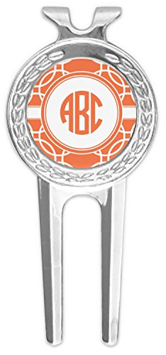 RNK Shops Linked Circles Golf Divot Tool & Ball Marker (Personalized) by RNK Shops