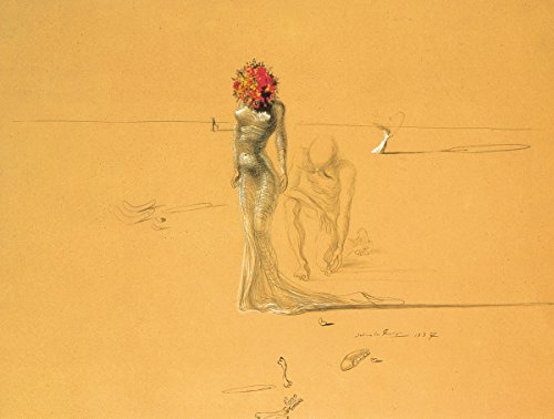 (HUNTINGTON GRAPHICS Female Figure with Head of Flowers by Salvador Dali - Art Print/Poster 11x14 inches)